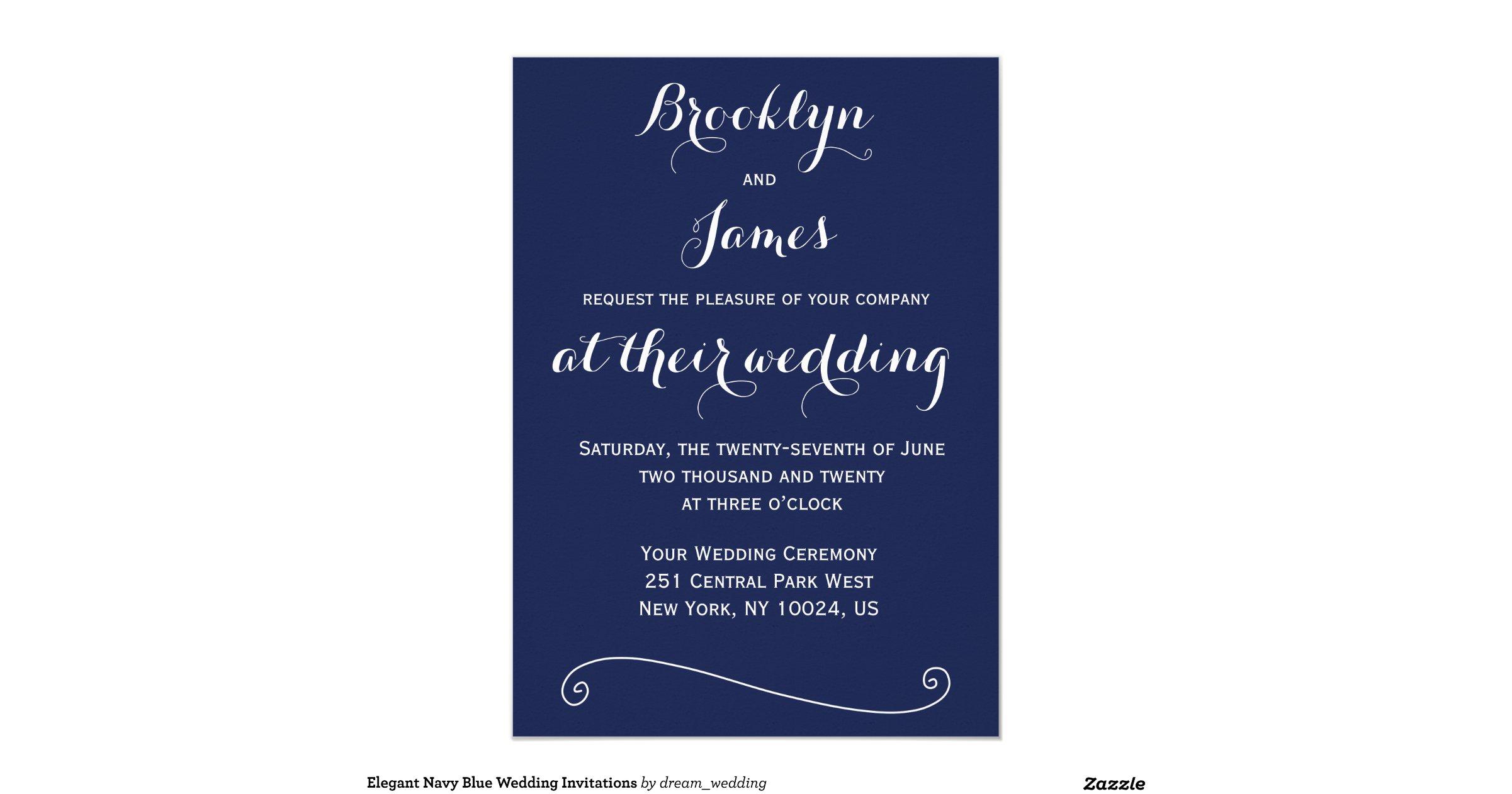 Navy Blue And White Wedding Invitations: Custom_navy_blue_and_white_wedding_invitations