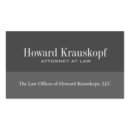 Custom Order - Attorney Business Cards