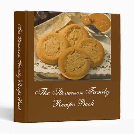 Custom Personalized Recipe Book 3 Ring Binder