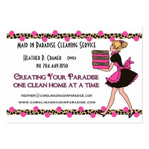 maid service business cards business card templates. Black Bedroom Furniture Sets. Home Design Ideas