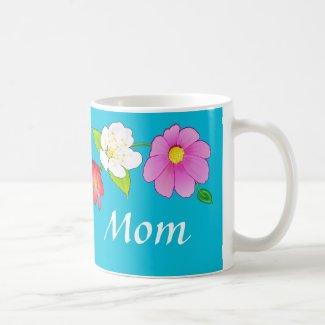Custom Printed Coffee Mugs for Mom Hawaiian Floral