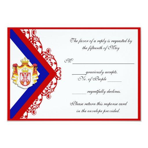 "Custom Serbian Wedding Response Cards RSVP 3.5"" X 5"