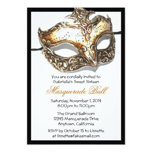 Custom Sweet Sixteen Masquerade Ball Invitations | Zazzle