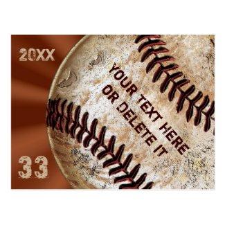 Custom Vintage Baseball Post Cards Invitations