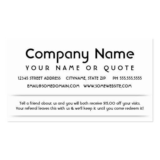 Customer Referral Appreciation Card Zazzle