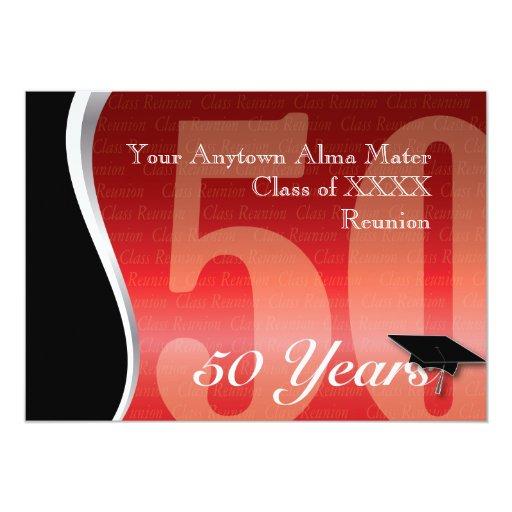 Customizable 50 Year Class Reunion Invitations