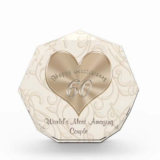 60th Wedding Anniversary Ideas: Customizable 60th Wedding Anniversary Gift Ideas Acrylic