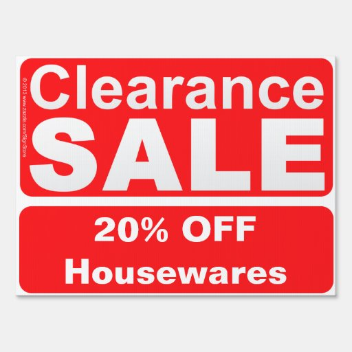 Customizable Clearance Sale Sign for Stores | Zazzle