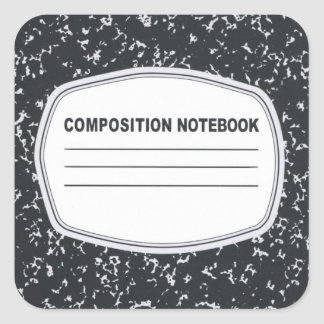 Customizable Composition Notebook Stickers