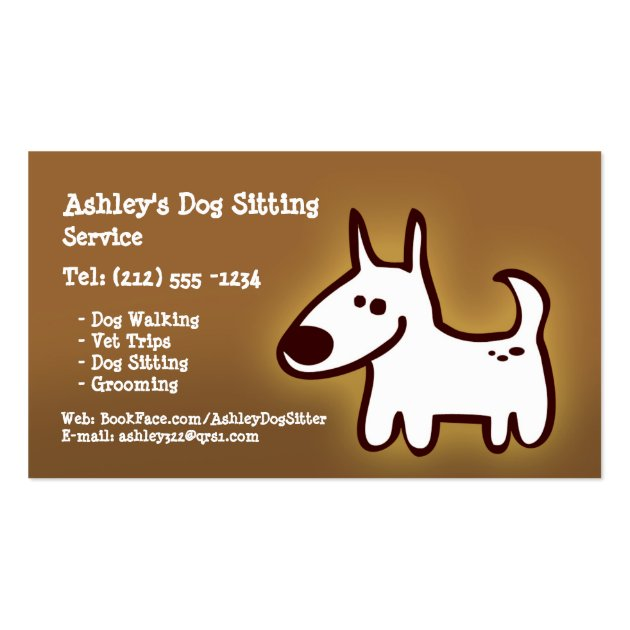 Customizable dog sitting grooming walking business card for Walking certificate templates