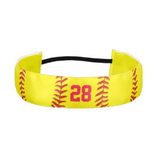 Customizable Jersey Number Softball Hair Bands Athletic Headbands
