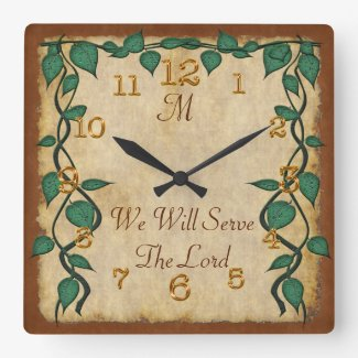 Customizable Monogrammed Vintage Christian Clocks