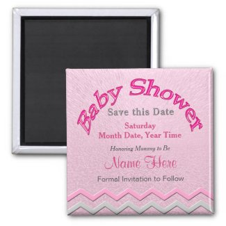 Customizable Save the Date Baby Shower Magnets