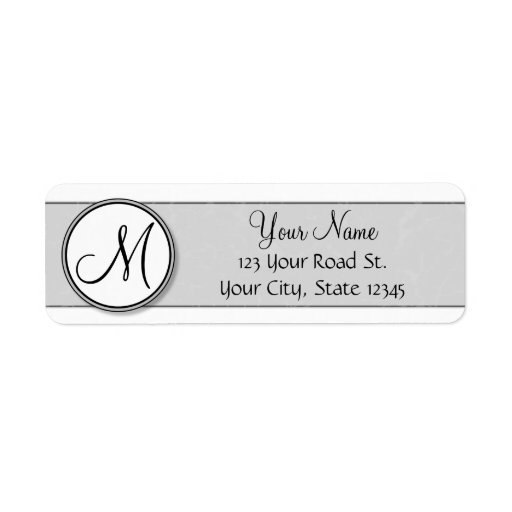 customizable split monogram seal template return address. Black Bedroom Furniture Sets. Home Design Ideas