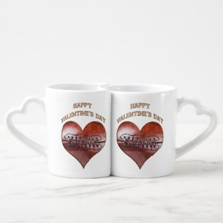 Customizable Vintage Football Valentine Mugs Couples' Coffee Mug Set CLICK HERE