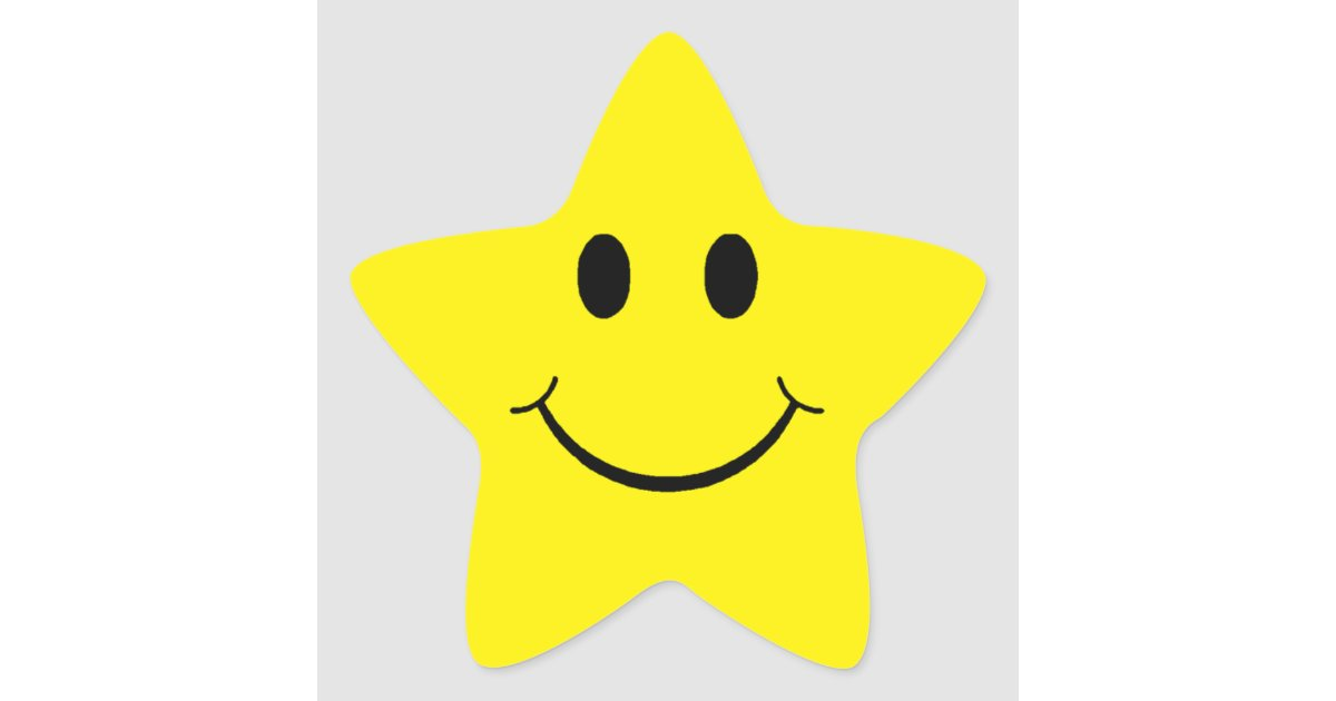 Customizable Yellow Smiley Star Star Sticker Zazzle Interiors Inside Ideas Interiors design about Everything [magnanprojects.com]