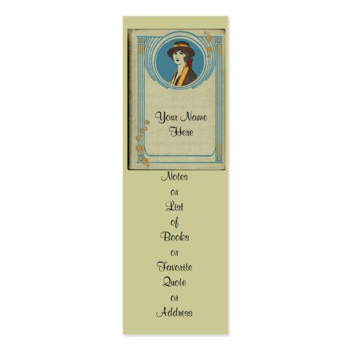 double sided bookmark template - customize this bookmark and hand it out business card