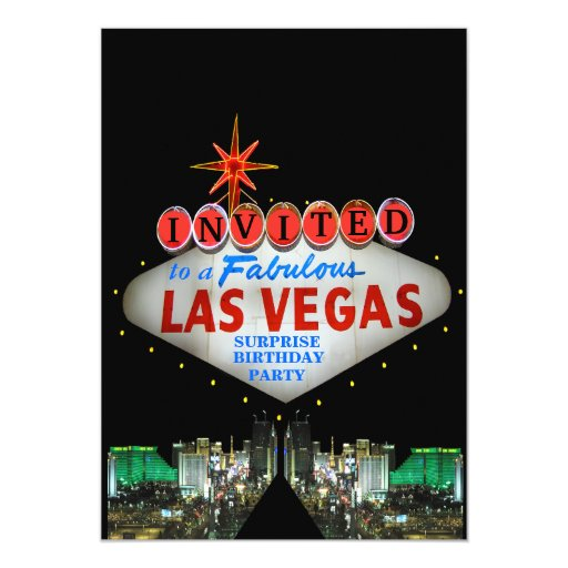 Customize Your Own Las Vegas Sign Invitations