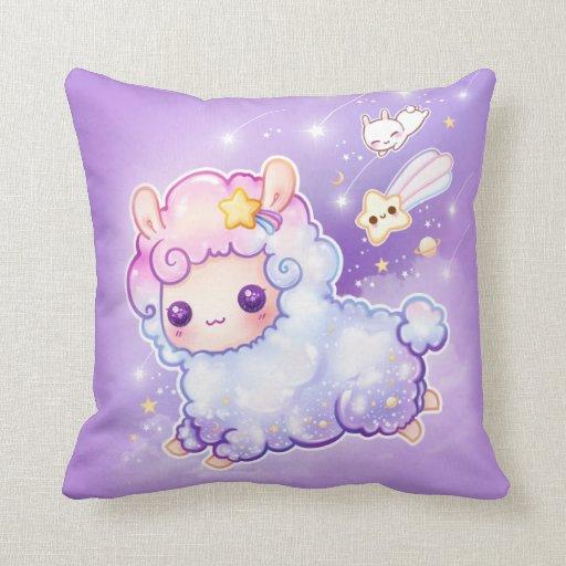 Couch Canvas Square Cartoon Cute Throw Pillows |Cute Pillows