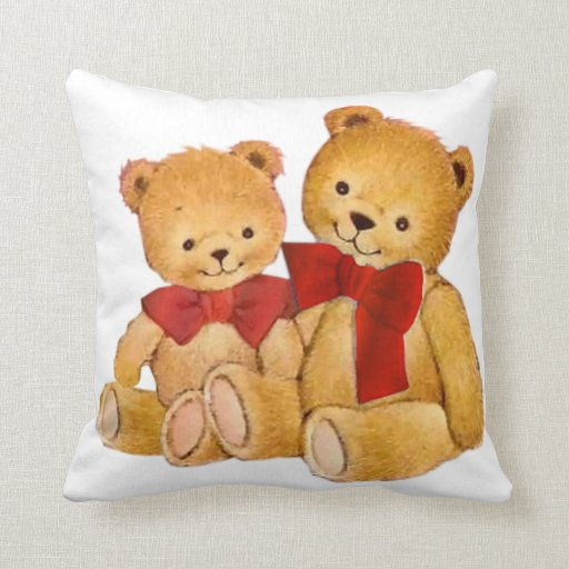 Cute And Cuddly Teddy Bears Throw Pillows