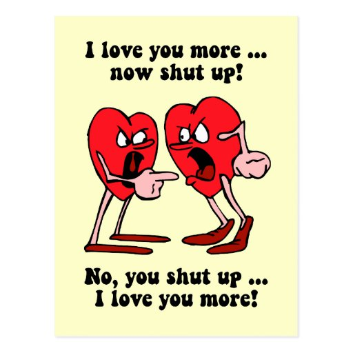 Cute and funny Valentine's Day Postcard | Zazzle