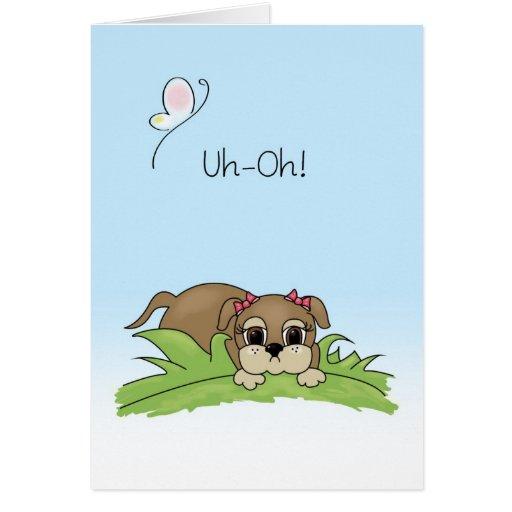 Cute Apology Card Big Brown Puppy Dog Eyes | Zazzle