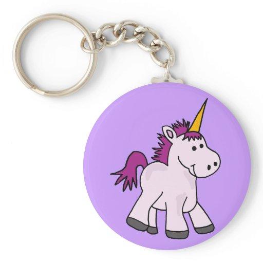 Cute Baby Unicorn Cartoon Key Chain | Zazzle