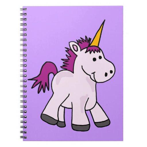 Cute Baby Unicorn Cartoon Spiral Note Books | Zazzle