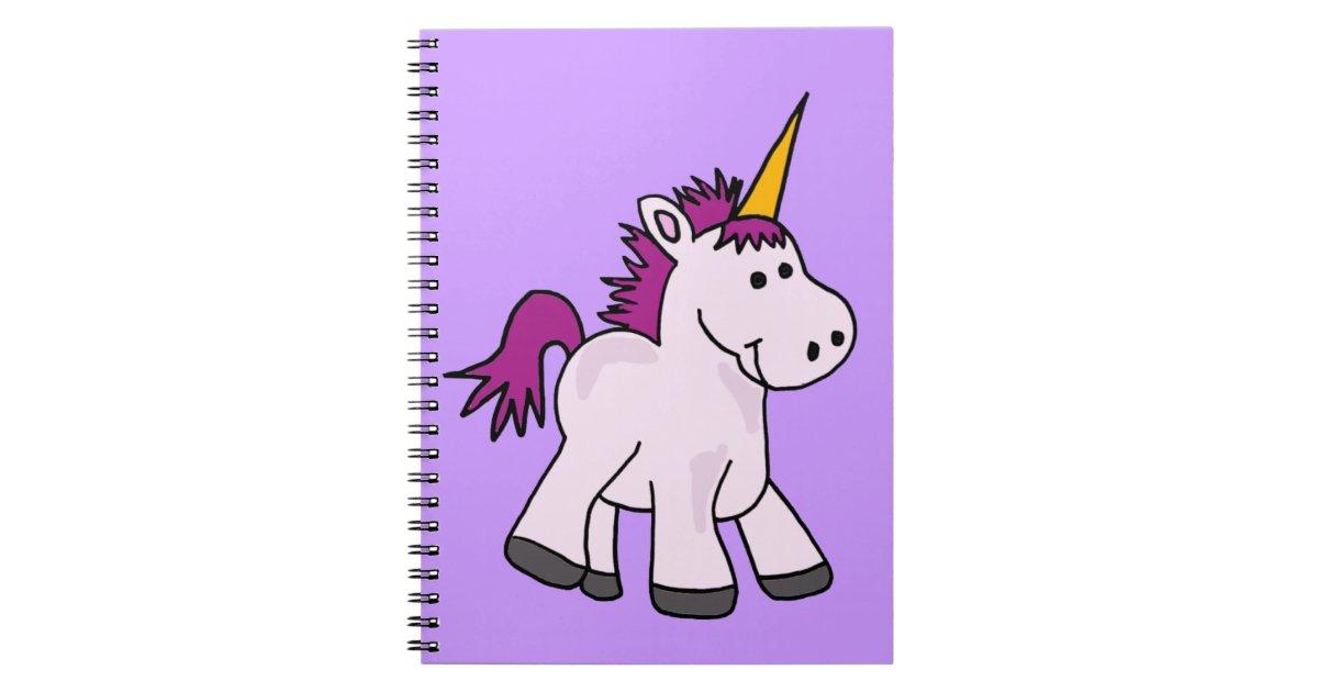 Cute Baby Unicorn Cartoon Spiral Notebook | Zazzle