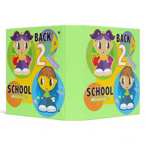Cute Back To School Kids Notebook Binders