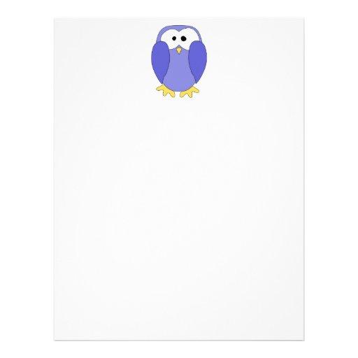 Cute Blue Penguin. Penguin Cartoon. Letterhead | Zazzle