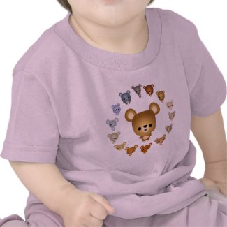 Cute Cartoon Bear Babies Baby T-Shirt shirt
