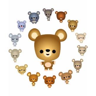 Cute Cartoon Bear Babies Children T-Shirt shirt