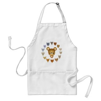 Cute Cartoon Bear Babies Cooking Apron apron