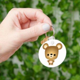 Cute Cartoon Bear Cub Keychain keychain