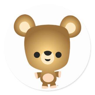 Cute Cartoon Bear Cub Sticker sticker