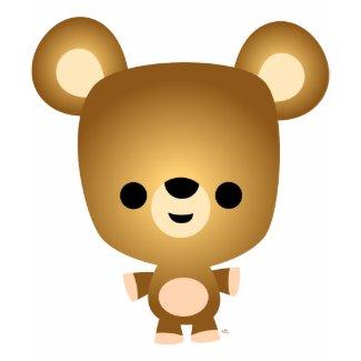 Cute Cartoon Bear Cub Women T-Shirt shirt