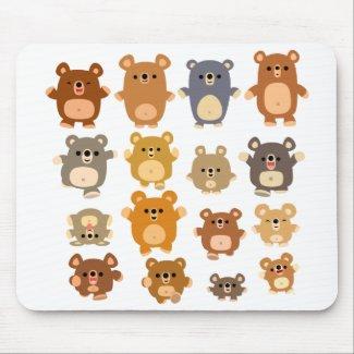 Cute Cartoon Bears mousepad mousepad