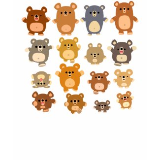 Cute Cartoon Bears Women T-shirt shirt