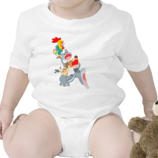 Cute Cartoon Bremen Town Musicians Baby Clothing shirt