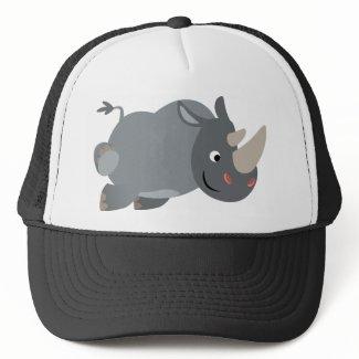 Cute Cartoon Charging Rhino Hat hat