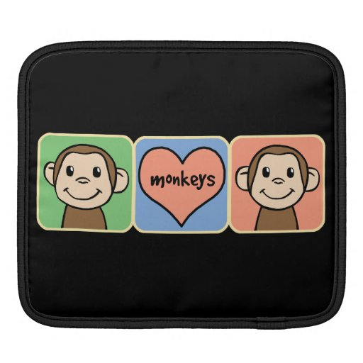 Cute Cartoon Clip Art Monkeys with Heart Love Sleeves For ...
