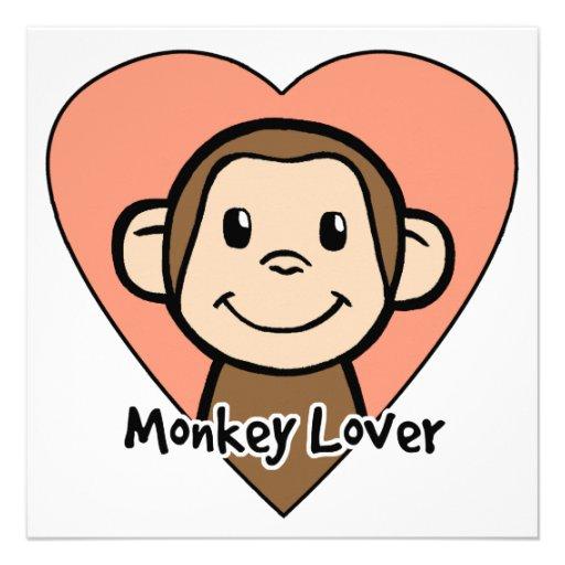 Cute Cartoon Clip Art Smile Monkey Love in Heart 5.25 ...