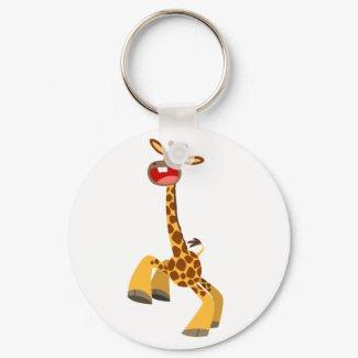 Cute Cartoon Dancing Giraffe Keychain keychain