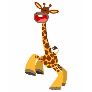 Cute Cartoon Dancing Giraffe Women T-Shirt shirt