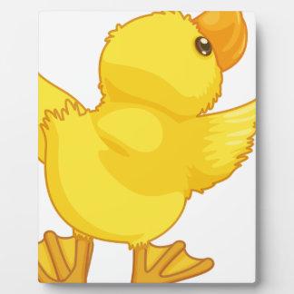 D Duck Cartoon cute cartoon duck photo plaque
