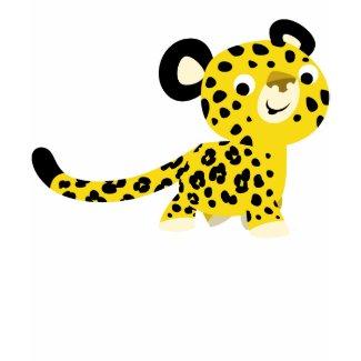Cute Cartoon Friendly Leopard Women T-Shirt shirt