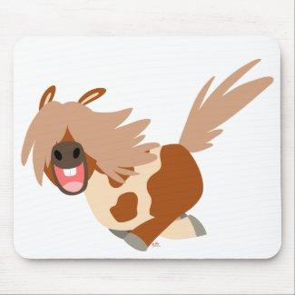 Cute Cartoon Happy Pinto Pony mousepad mousepad