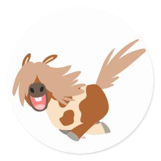 Cute Cartoon Happy Pinto Pony sticker sticker