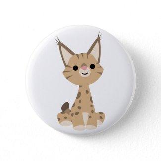 Cute Cartoon Lynx Button Badge button